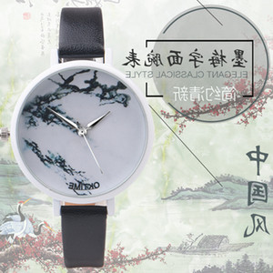 Wholesale 100pcs Factory Price Marble Watch,Laides Women Wrist Watch, Minimalist Leather Watch For Laides Women Gifts Watches