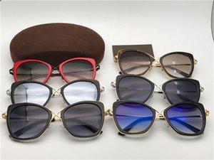 جديد 0605 نظارات شمسية أزياء المرأة العلامة التجارية مصمم شعبية الرجعية نمط حماية عدسة القط إطار أعلى جودة مجانا تأتي مع حزمة