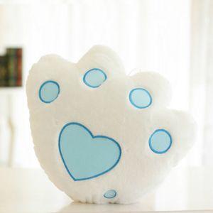 Creative Toy Luminous Pillow Soft Stuffed Plush Stars Square Bear Paws Cushion Led Light Toys Christmas Gift for Kids Z1127