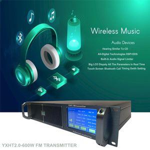 YXHT2.0 600W Warryenty 6 años STEREO FM 87.5-108MHZ Estación de radio de largo alcance Screen Screen Screen Transmisor de transmisión