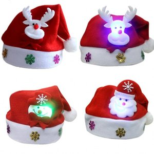 Christmas Gifts Hat Red Ornament Santaclaus Adult Children Men Women Beanie Ordinary Santa Hats Cartoon Plush Happy Elk Snowman 3yh M2