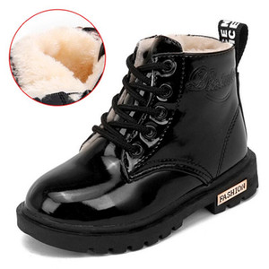 New Children's Boots Waterproof Boys Girls Martin Boots Winter Kids Snow Ankle Short Booties Child Fashion Sneakers