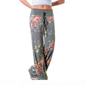 Fashion 2019 Women Loose Wide Leg Long Pant Floral Print Casual High Waist Palazzo Leggings Trouser Pajama Pants At Home