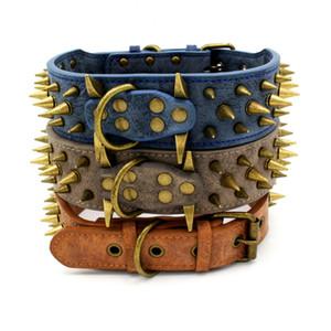 (10 Pieces lot) High Quality Retro Sharp Spike Large Dog Collar Anti-Bite Sipke Studded Big Dog Collars Z1127