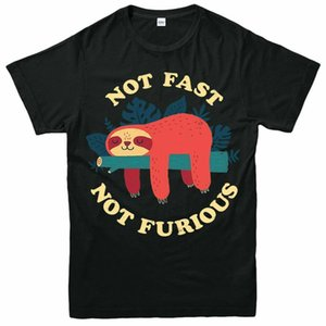 Sloth Not Fast Not Furious T-Shirt, Funny Short Sleeve Adult & Kids Tee Top Men New High Quality top tee