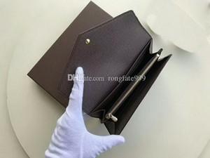 유명한 디자이너 브랜드 뉴 사라 지갑 다색 Damier Ebene 캔버스 긴 지갑 지갑 카드 홀더