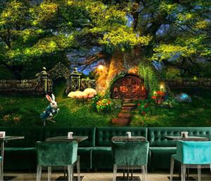 3D Cartoon Forest Forest Wallpaper Roy's Room's Kindergarten Nursery Murale 5d Abbigliamento per bambini Shop wallpaper