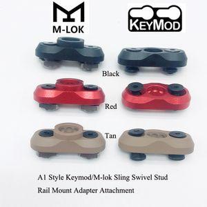 A1 Style Keymod / M-Lok Mok Mount Attachment_Black / أحمر / تان اللون صالح مفتاح وزارة الدفاع / mlok handguard نظام السكك الحديدية