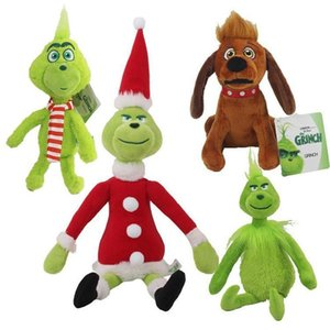 "High Quality 100% Cotton 11.8"" 30cm How the Grinch Stole Christmas Plush Toy Animals for Child Holiday Gifts Wholesale Party Favor"