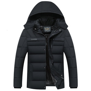 2020 New Fashion Toison manteau à capuchon hommes chaud épais hommes d'hiver Veste coupe-vent cadeau pour Mari Père parka