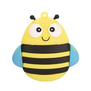 cute Mini animal bee usb flash drive usb 2.0 4GB 8GB 16GB 32GB 64GB pendrive gift usb wholesales