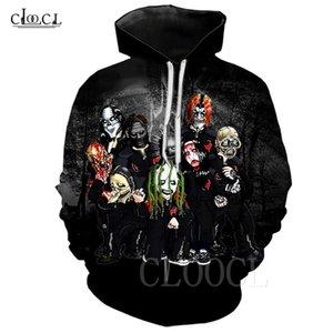 Novo desenhos animados Slipknot Heavy Band Banda Hoodie Unisex Hipster Pullover Streetwear Hajaruku Suéter Slipknot fãs Hoodies Hoody