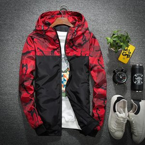 Mens Casual Camouflage Hoodie Jacket Men's Spring Autumn Windbreaker top Coat dropshipping Male Outwear Waterproof Clothes