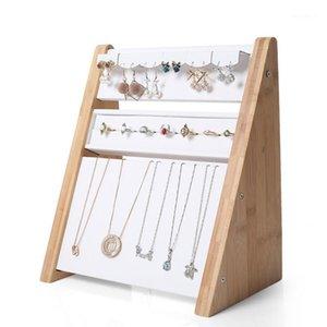 Горячая распродажа высококлассный черный / белый PU ожерелье ювелирные изделия подставка для дома витрина подвеска органайзер держатель стойки
