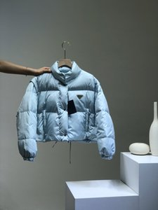 2020 Femmes manteau Mode Nouveau manteau d'hiver Limited Lettre Knit Lettre Removable Manches Triangle en métal Parfait Détails Blanc Opan Down