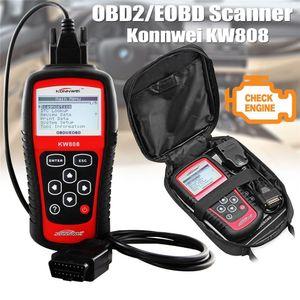 KW808 OBD ماسحة سيارة OBD2 أداة تواتية السيارات أداة تشخيص السيارات تدعم J1850 Engine Bualt Code Reader DFD