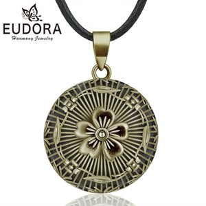 EUDORA Harmony Ball Vintage Bronze Necklace Chime Bola Flower Pendant for Women Fashion Jewelry Mexican Pregnancy Ball NB341
