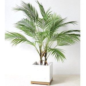 88 см Зеленый искусственный ладонь лист пластиковые растения сад дома украшения Скутеллария Тропическое дерево поддельные растения1