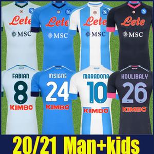 2020 2021 Napoli Maradona Jersey 나폴리 Osimhen Fabian Insigne 축구 유니폼 H.Lozano Mertens Koulibaly 축구 유니폼 Camiseta de Napoli