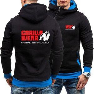 New arrival fashion gorilla wear hoodies harajuku printed mens hoodies pullover Winter hoody tracksuits gorilla wear Men Y1112