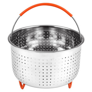 Hot Sale Original Sturdy Steamer Basket 304 Stainless Steel Food Steamer Basket Pressure Cooker Steamed Egg Basket Multifunctional Suitable