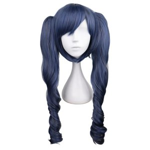 Black Butler Kuroshitsuji Ciel Phantomhive Blue Grey Mix Synthetic Hair Cosplay Wigs With Removable Ponytails Crossdressing Girl Party Wigs