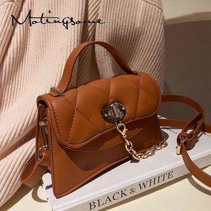 Мода женские клапаны маленький квадратный мешок Crossbody плеча сумки и кошельки шикарные женские роскоши дизайнерские сумки коричневые 2021 новый Q1230
