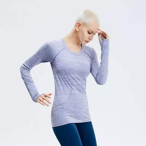 Lu-66 same Lulu Yoga dress women's Sports Top breathable deodorant seamless swift tech long sleeve 003
