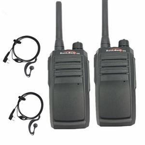 무전기 2PC 100 % Geniue Xunlibao V10 16CH 양방향 라디오 UHF 400-470MHz 휴대용 햄 FMR 8W 프로그래밍 가능