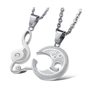2020 Popular Couple Necklace Fashion Creative Necklace Notes Pendant Necklace Valentine's Day Confession Love Gift