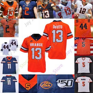 Syracuse Orange Football Jersey NCAA College Donovan McNabb Devito Moe Neal Trishton Jackson Brandon Berry Black Harris Adams Riley Williams