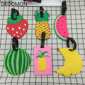 2020 New Travel Accessories Luggage Tags Animal Cartoon Silica Gel Suitcase ID Addres Holder Baggage Boarding Portable Label