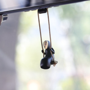 Cute Anime Interior Decorations Car Ornaments Faceless Male Car Pendant Car Rearview Mirror Pendant Birthday Gift Auto Accessories Free DHL