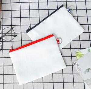 100pcs 14*18cm canvas cosmetic bags DIY women blank plain zipper makeup bag phone clutch bag Gift organizer cases