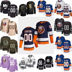 2021 Reverse Retro Special Custom New York Islanders Mathew Barzal Josh Bailey Anders Lee Eberle Nick Leddy Thomas Hickey Hockey Jersey