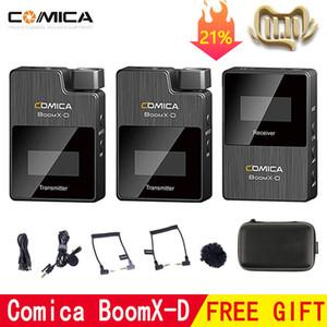 Comica boomx-d Microfone sem fio Transmissor Kit Mini Receptor de Microfone 2.4G Digital para Fimi Plam / Snoppa VMate 201110