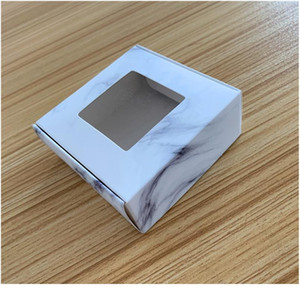 10pcs Multi Size Paper Soap Box Kraft Paper Gift Box Package With Clear Pvc Window Candy Favors Arts&krafts Display K jlliPV