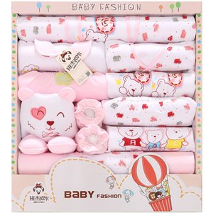 18Pcs Lot 2020 Newborn Baby Girl Clothes Autumn Hot Air Balloon Gift Box Set Thick Cotton Character Baby Boy Clothes Y1113