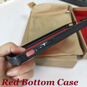 Moda zapatillas de deporte DISEÑADORES Funda de teléfono inferior roja para iPhone 11 12 Pro Max Mini XR XS Max 7 8 Plus Cubierta de diseño de lujo Coque Funda Coque