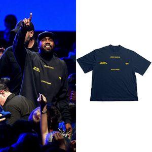 Sommer Kanye West T-Shirt Frauen Jesus ist König 1: 1 Tshirts Kurzarm Harajuku 100% Baumwolle Herren Tshirts T-Shirts T-Shirts Urban Kleidung X1227