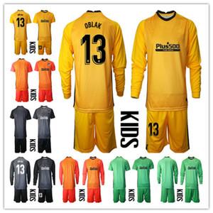 2020-2021 Bambini manica lunga ADAN Oblak Portiere Jerseey Yersy Youth Kids Soccer Set # 13 Jan Oblak # 1 Adan Boys Kit Kit per bambini Portiere uniforme