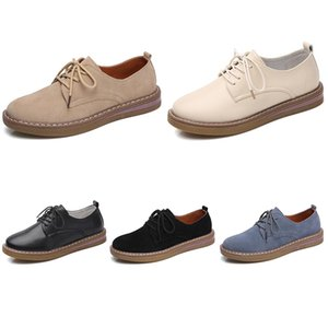 2021 women running shoes leather shoes color triple black white beige blue fashion women sport sneakers size 35-40