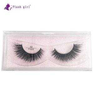 Wholesale high quality FG22 sample provide 1 pair 5D mink natural thick handmade false eyelashes private label