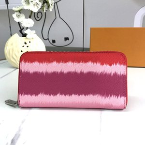 Hot 2020 New Fashion Clutch bag famous brand wallet Designer purse Card bag Luxury zipper wallet Female wallet Genuine Leather purse Tie-dye