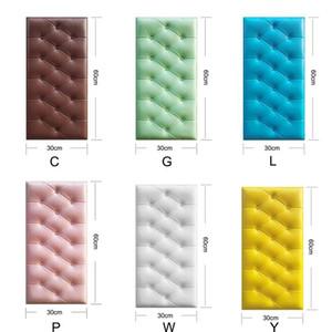 Kendinden yapışkanlı 3D Üç Boyutlu Duvar Çıkartmaları Kalınlaşmak Tatami Anti-çarpışma Duvar Mat Çocuk Yatak Odası Yatak Yumuşak Yastık