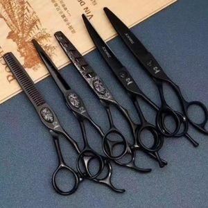 6 Professional Hair Salon Structure Scissors Set Cutting Barber Haircut Thinning Shear Scissors Hairdressing Hair Tools