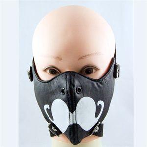 New Fashion Show Rivet Print Mustache Rock Non maschera da moto personalizzata Punk Punk maschile