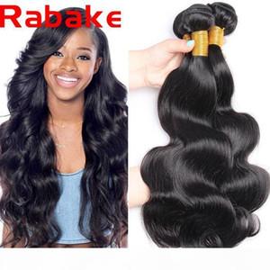 3 unids Lote Raboke 8a onda de cuerpo mongol del cuerpo del cuerpo humano 100% de tejido natural Paquete de pelo Remy Extensions Factory Outlet Price Envío gratis