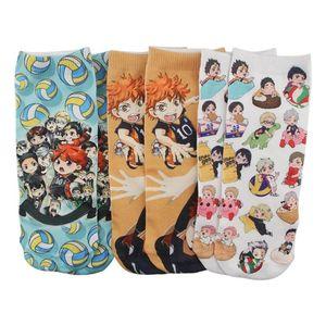 Uomo inverno cartone animato anime haikyuu calzini Harajuku Trends moda strada cosplay cotone corto calzini regalo di Natale