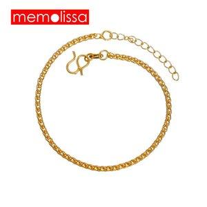 Memolissa simples moda ouro cor de cor pulseira ajustável pulseiras pulseiras para mulheres casamento jóias